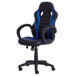 Cadeira Gamer Racer PU Preta com Azul