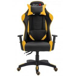 Cadeira Stars Game Com Encosto Reclinável E Função Relax Amarelo