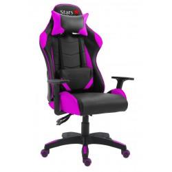 Cadeira Stars Game Com Encosto Reclinável E Função Relax Pink