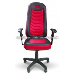 Cadeira Gamer Iron Vermelho - Giratória, Base relax, Braço Regulável