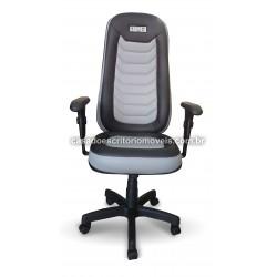 Cadeira Gamer Iron Cinza - Giratória, Base relax, Braço Regulável