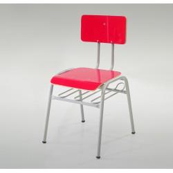 Cadeira Grande Em Laminado Anatômica Com Porta-Livros