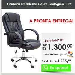 Cadeira Presidente Couro Ecológico 872