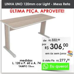 Mesa Reta Uno - 120mm